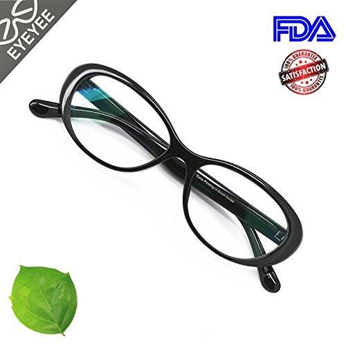 Reading Glasses Blue Light Blocking - Oval Computer Eyeglasses Frames for Women