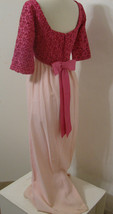 Vintage Dress ILGWU Hot Pink 2 Tone Crochet Bodice Empire Waist 1/2 Slee... - $269.99