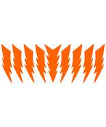 LiteMark Reflective Orange 4 Inch Lightning Bolt Decals - $10.95