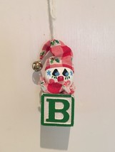 Vintage Baby Block Jack in the Box Clown Christmas Ornament - $5.90