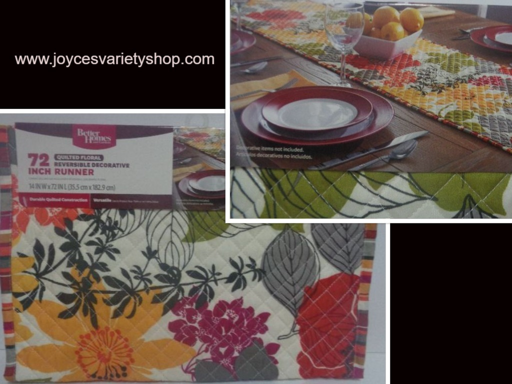 Floral table runner web collage