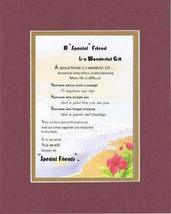 Touching and Heartfelt Poem for Special Friends - A Special Friend is a Wonderfu - $15.79