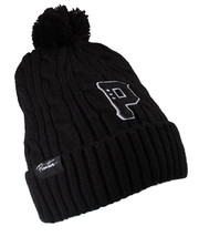Primitive New Era Timeless Cable Knit Skate Pom Beanie Black or Gray Ski Hat NWT