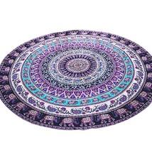 Mandala Beach Throw Towel Round Mat Boho Tapestry - $14.76