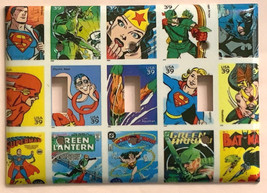 Comic Superhero USPS Stamps Light Switch Outlet wall Cover Plate Home Decor image 6