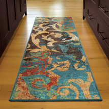 """2x8 (2'3"""" x 8') Runner Contemporary Modern Abstract Floral Area Rug - $69.00"""