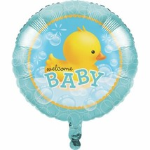 "Bubble Bath Duck 18"" Foil Balloon Baby Shower Rubber Ducky - $4.39"