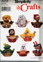Uncut Robin Greenwood Holiday Basket Simplicity 8658 Pattern Easter Chri... - $6.99