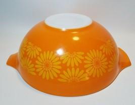 Vintage Pyrex 444 Daisy Sunflower Cinderella 4 Quart Bowl Orange Yellow ... - $21.73