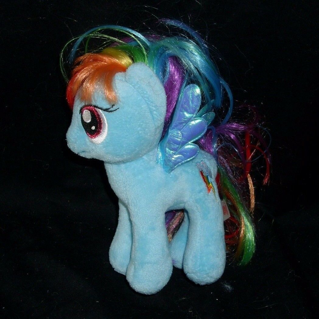LOT 3 MY LITTLE PONY PONIES RAINBOW DASH APPLEJACK TY STUFFED ANIMAL PLUSH TOY image 4