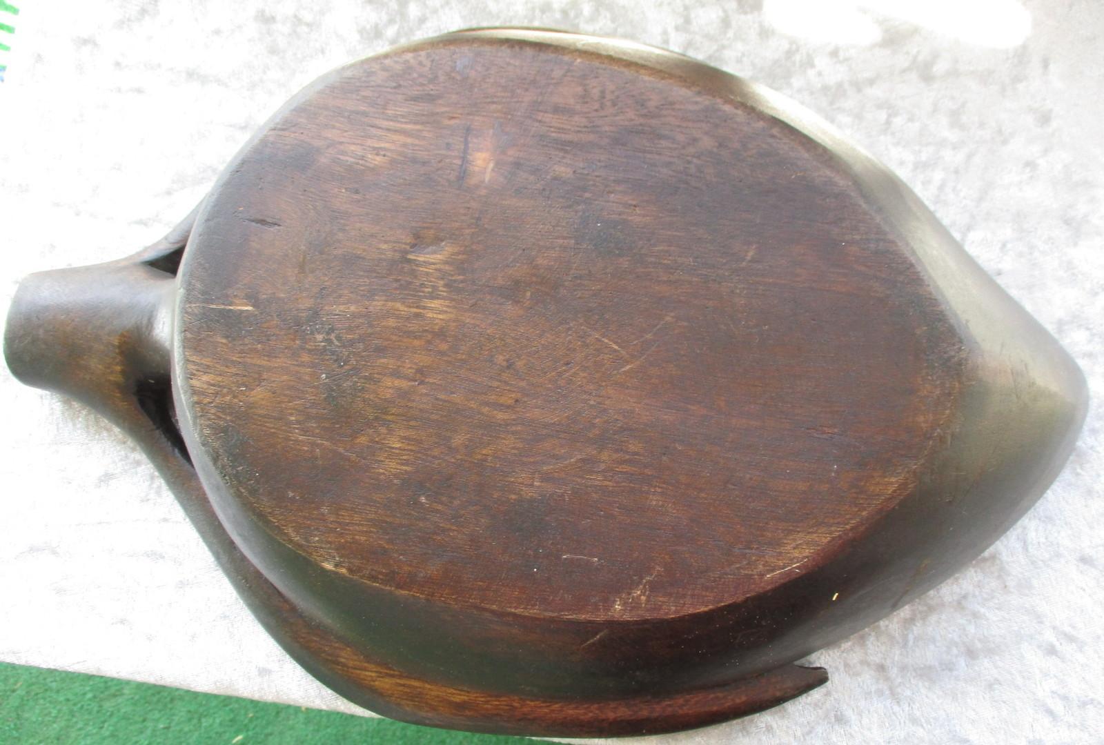 Vintage Wood Leaf Shape Bowl