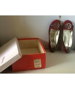 Pair of Style & Co. Woman's shoes Halston 3 from Macy's Burgandy SZ 5 - $24.50