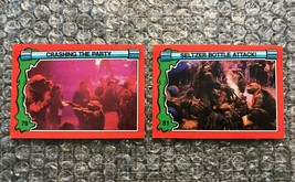 1991 Topps Teenage Mutant Ninja Turtles TMNT II Movie Cards Lot: #79 & #81 - $3.92