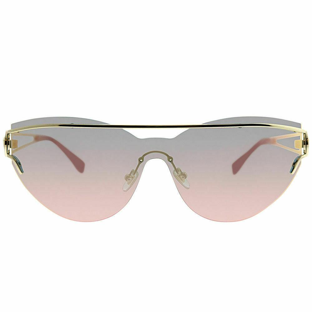 NEW Versace Cat Eye Shield Sunglasses VE 2186 12524Z  PALE GOLD