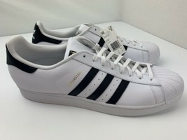 Adidas Originals Superstar Shell Toe Sneaker Men's Size 19 White Black C... - $19.79