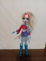 """Monster High Doll Abbey Bominable Music Festival 2012 Posable Outfit 11""""... - $17.82"""