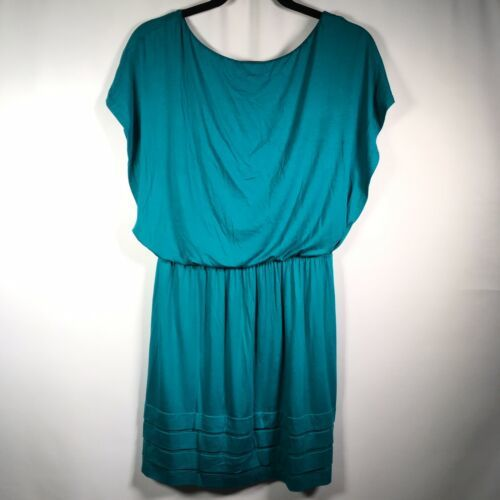 Lush Size Medium Short Sleeve Short Dress Teal