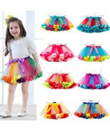 Baby Kid Girl Rainbow Tutu Skirt Tulle Princess Ballet Dance Dress Party... - $24.00