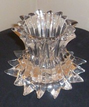 PartyLite P7378 Aurora Pillar Candle Holder RETIRED 24% Lead Crystal Collection - $35.30