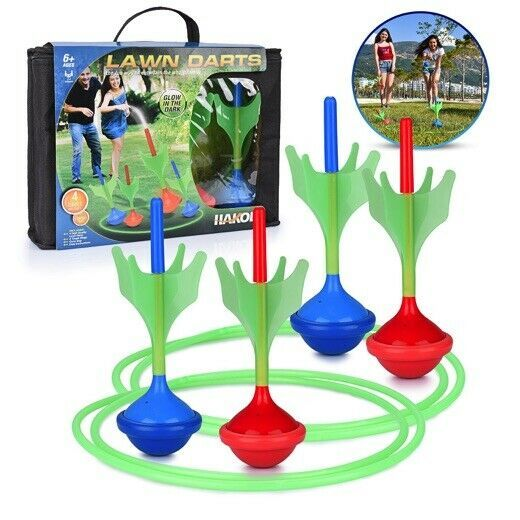 Lawn Darts Game – Glow in The Dark, Outdoor Backyard Toy for Family Fun, Parents