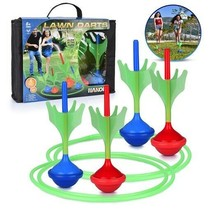 Lawn Darts Game – Glow in The Dark, Outdoor Backyard Toy for Family Fun, Parents image 1