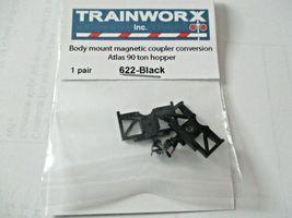 Trainworx Stock #622-Black Body Mount Magnetic Coupler See Description for Info  image 3