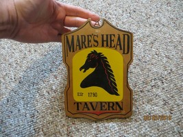 MARE'S HEAD TAVERN,ADVERTISING EST 1790  WOOD PLAQUE SIGN WALL HANGER VTG - $28.50
