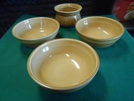 "Great Pfaltzgraff M.A.F.A. ""Folk Art"" .... 3 Berry / Cereal / Soup Bowls 5.5"" - $15.43"