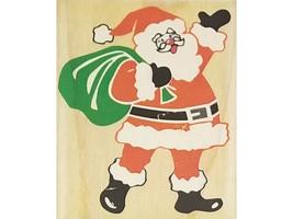 Posh Impressions Santa Claus Rubber Stamp