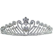 Nobel Dazzle Sliver Alloy Wedding Hair Comb Crown Headband image 2