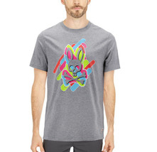 Men's Psycho Bunny Short Sleeve Tee Logo Graphic Shirt Heather Grey T-Shirt image 2