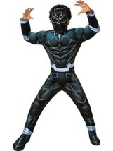 Boys Marvel Captain America Black Panther Muscle 3-D Halloween Costume-size 7/8 - $29.70