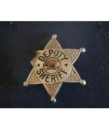 Deputy Sheriff Badge, 6 Point Star Badge,.1920's Badge.  Hmk  LA.Stamp. ... - $359.59