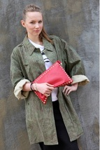 Vintage Czech army m60 raindrop camo parka jacket military coat camoufla... - $20.00