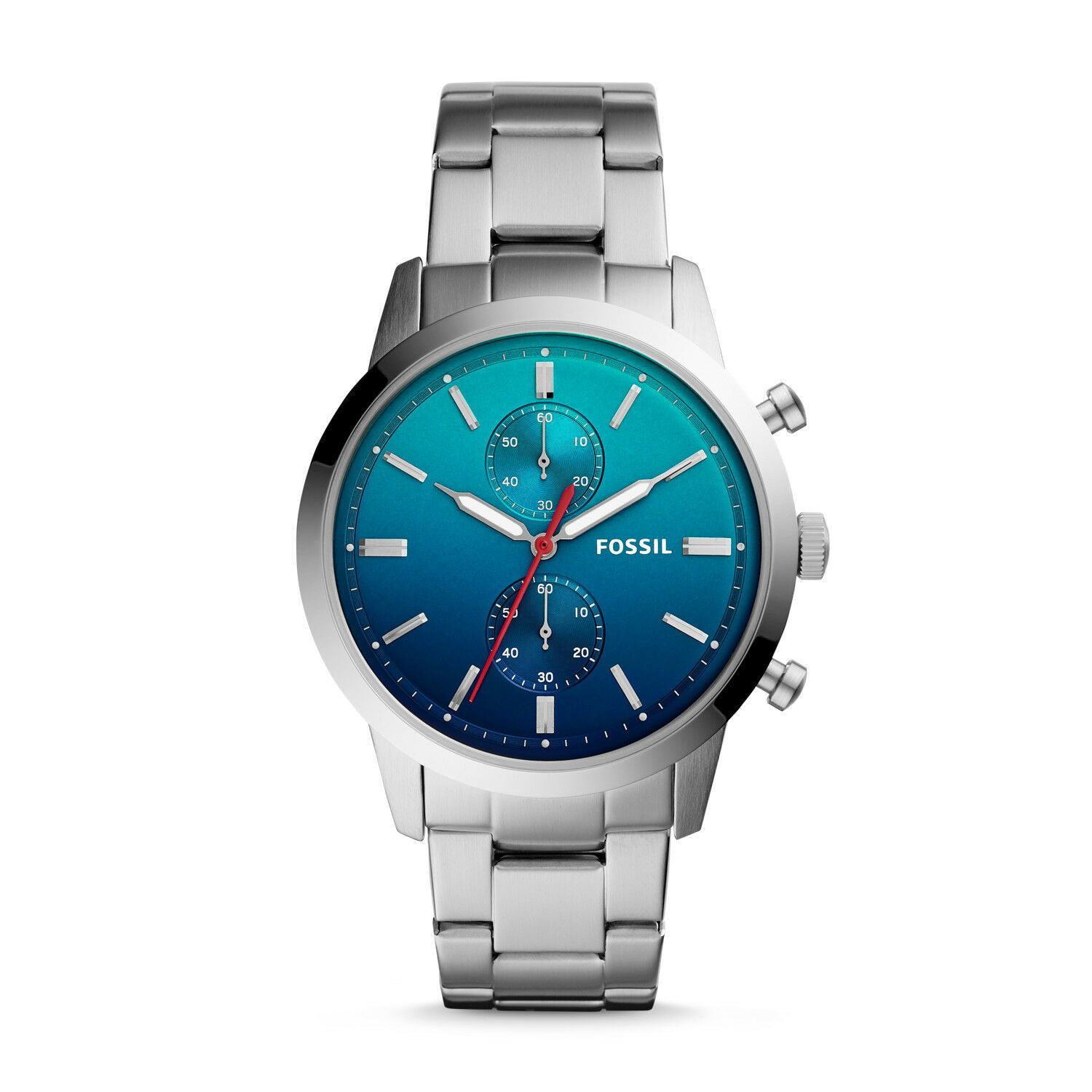 New Fossil Men's Townsman Chronograph Stainless Steel Watch Variety Color image 6