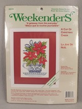 Weekenders Cup Of Christmas Cheer Tea Cup Counted Cross Stitch Kit 03316... - $24.74