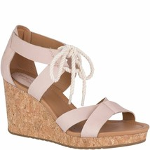 Sperry Top-Sider Women's Blush Pink Dawn Ari Open Toe Wedge Sandal STS80122 NIB