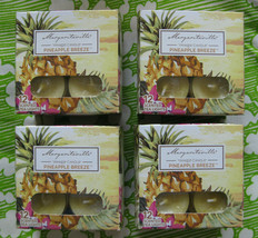 Lot of 4 Yankee Candle Margaritaville Pineapple Breeze Tea Lights 12 Per... - $40.00