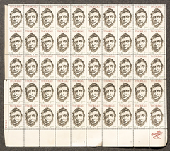 Thoreau, Sheet of 5 cent stamps, 50 stamps total - $7.50