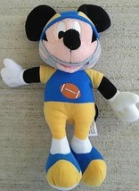 Disney Mickey Mouse Plush Football Player Team Hero Stuffed Animal Blue ... - $8.89