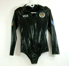 Vice Police Officer Bodysuit Black Sexy Cop Costume Studded LAPD S/M California - $19.24