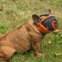 Breathable Bulldog Short Nasal Eye Dog Mask Muzzle Dogs Bite Proof Mouth... - $17.48