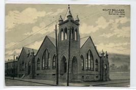 South Bellaire M E Church Bellaire Ohio 1908 postcard - $6.44
