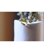 Quartz Stone Ring, Coral Stone Ring, Adjustable Gold Ring,Gold Ball Ring - $46.00