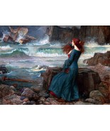 Miranda the Tempest Painting by John William Waterhouse Art Reproduction - $32.99+