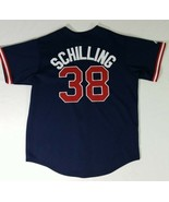 Boston Red Sox Curt Schilling #38 Blue Embroidered Majestic Jersey Men's... - $49.38