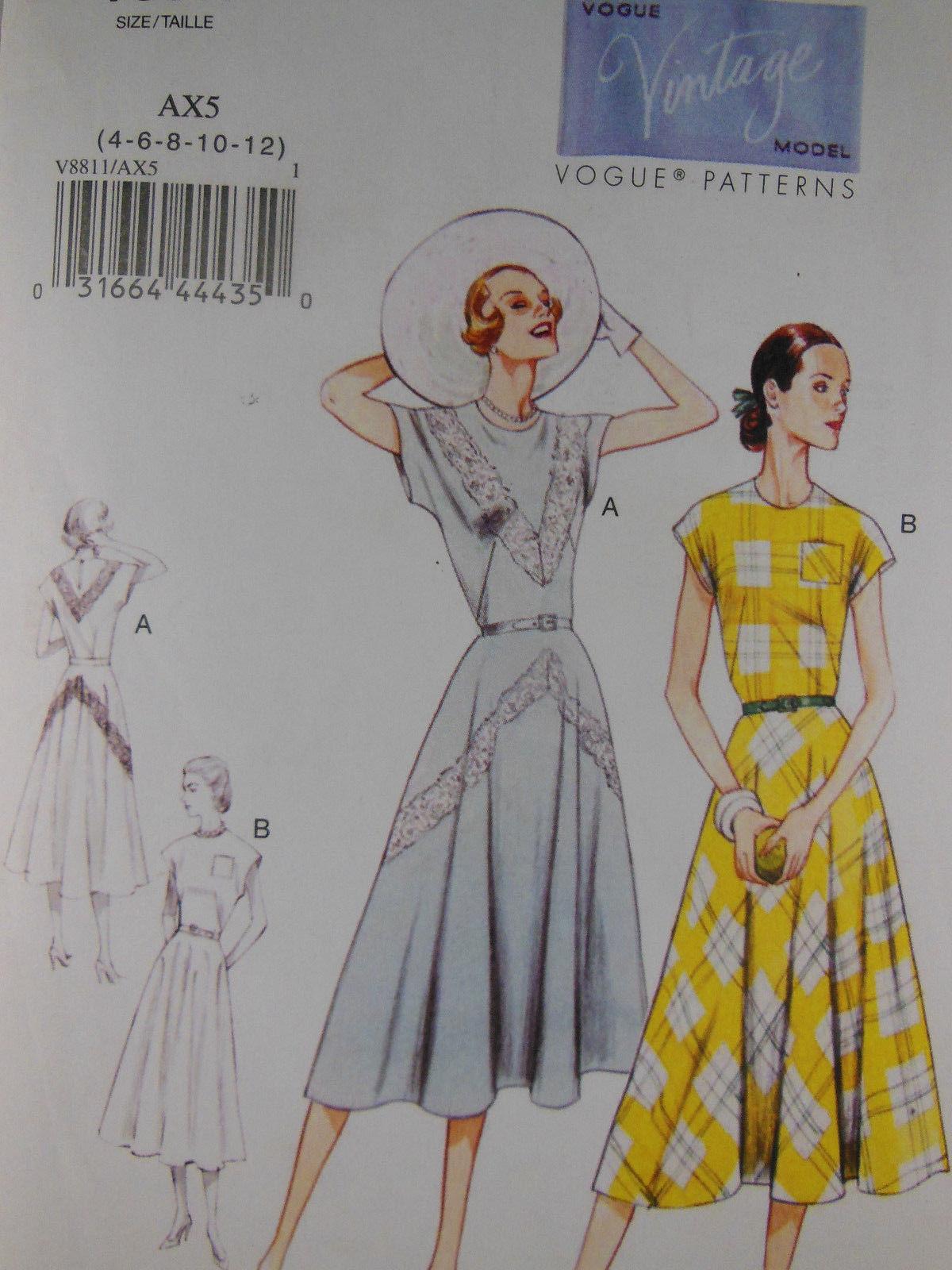 88ec5ef3e326b Vogue Pattern 8811 Dresses 1940 Design Sizes and 50 similar items. S l1600