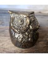 Vintage Brass OWL Bronze Electroplated Figure Figurine statue  - $21.28