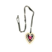 Women's Avon Heart Shaped Pendant Silver Necklace - $6.93