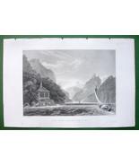 SWITZERLAND Tell's Chapel Lake Uri - 1836 Antique Print Engraving - $11.10
